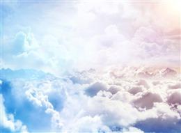 渐变云层图片