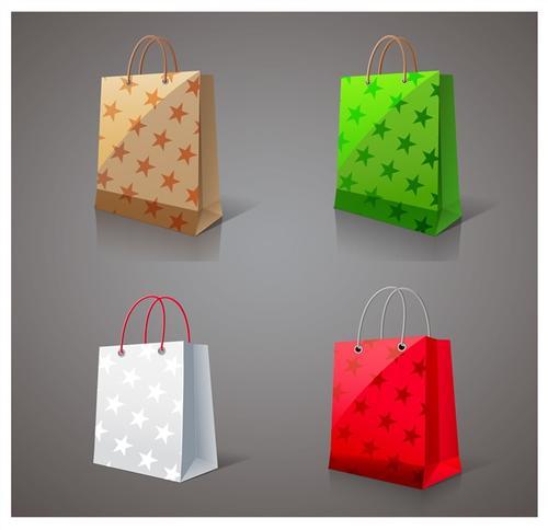 彩色购物袋矢量图