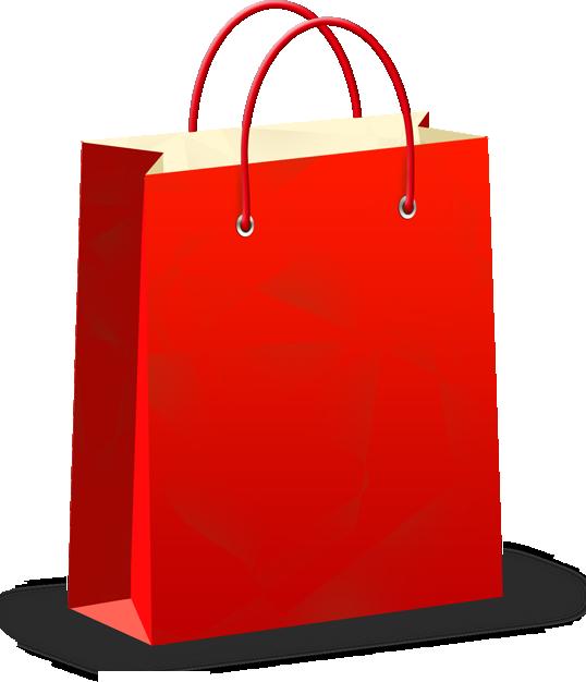 红色购物袋矢量图