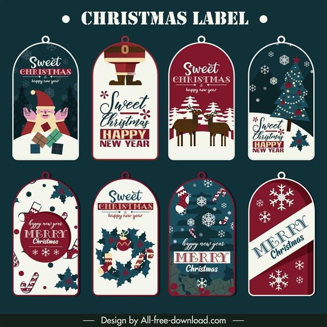 圣诞节精美标签