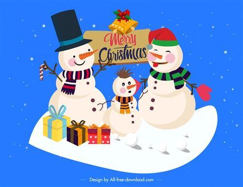 各种各样的雪人
