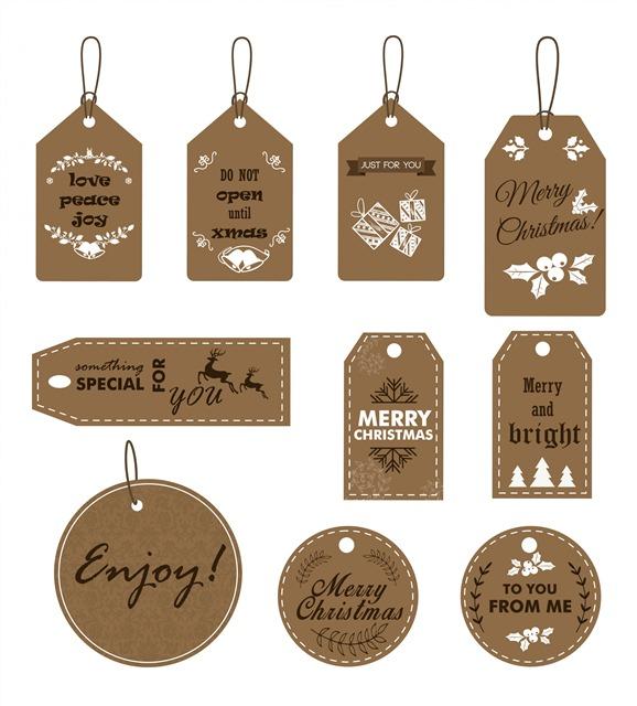 圣诞节礼品装饰标签
