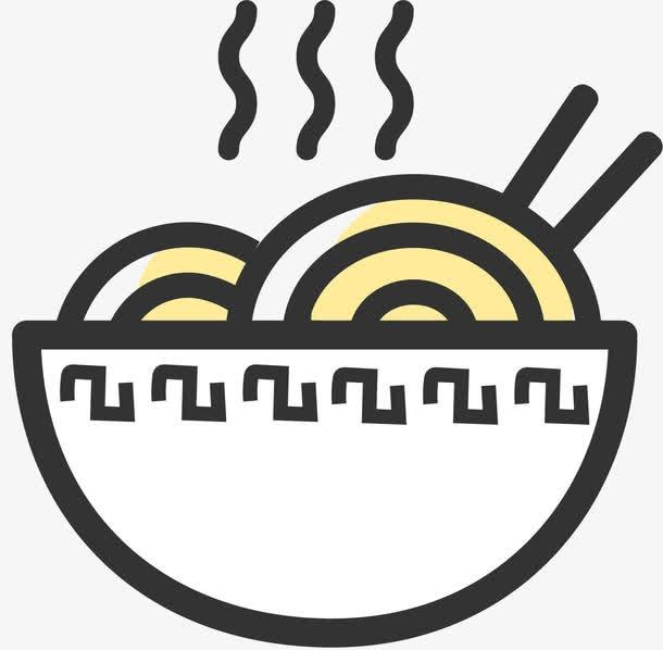 面条美食卡通图标