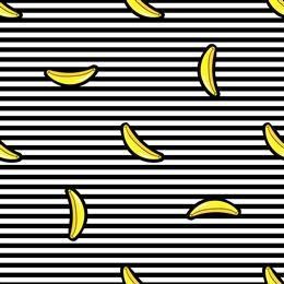 手绘香蕉涂鸦背景