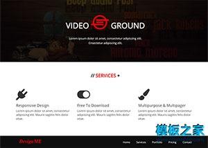 视频展示网站模板