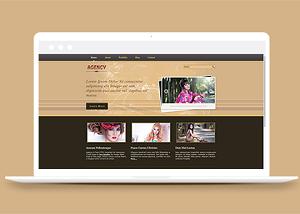 个人写真集照片图文网站模板