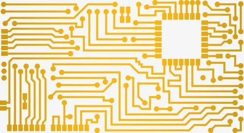 电路板线条矢量图