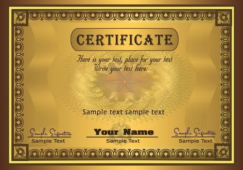 横版荣誉证书设计图片