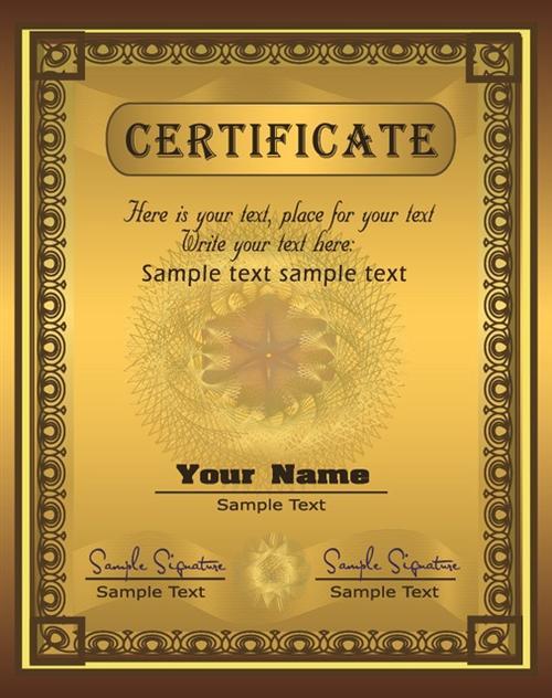 金色证书模板