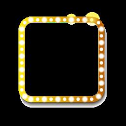 电商霓虹灯正方形边框
