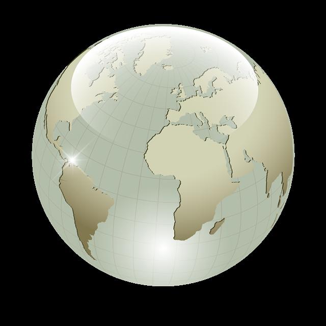 玻璃质感地球地图矢量图