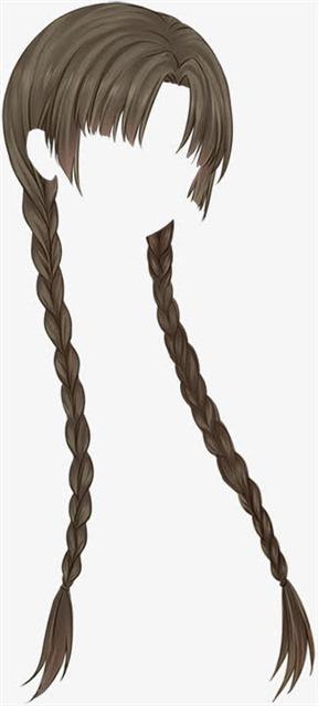 日系女生头发ps模板