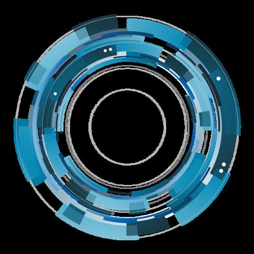 齿轮圆环矢量图