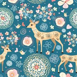 圣诞麋鹿插画背景