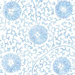青花瓷底纹花卉背景