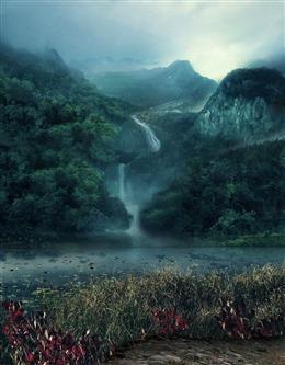 静谧山谷图片