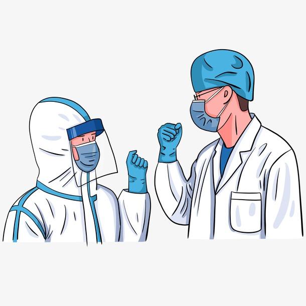 防疫医护人员漫画