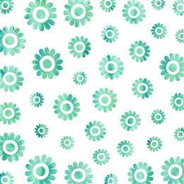 绿色小花背景