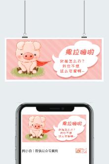 情人节可爱小猪公众号图片
