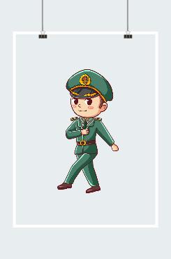 建军节军人形象图案