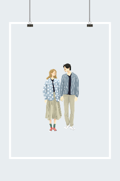 浪漫情侣牵手图案
