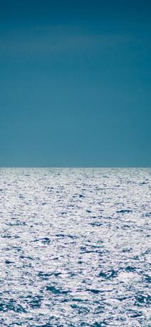 碧蓝海平面天然风景高清壁纸