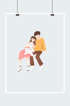 浪漫七夕情侣图案