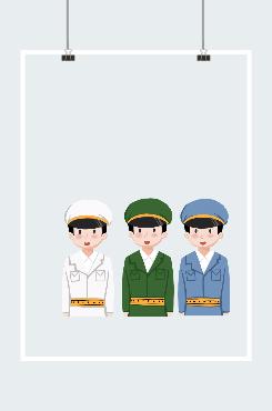 军人手绘图片