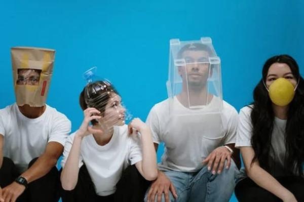 创意新冠口罩预防高清图片素材