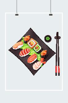 日料三文鱼刺身图片