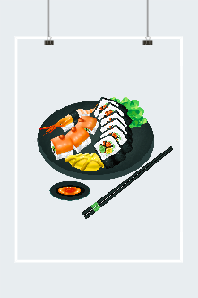 日本料理精致插画图片