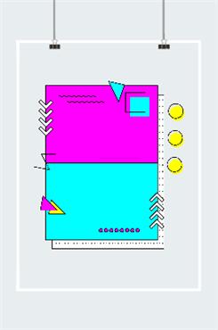 孟菲斯边框几何元素图片