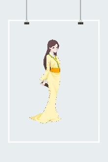 古风仙气黄衣女子图片