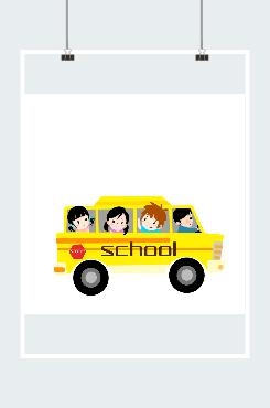 卡通校车图片
