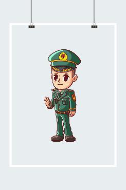 卡通陆军人物图片