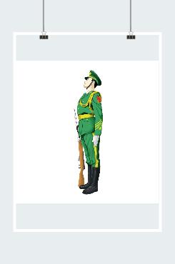 建军节军人图片素材