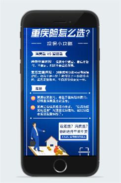 医疗保险原创手机海报