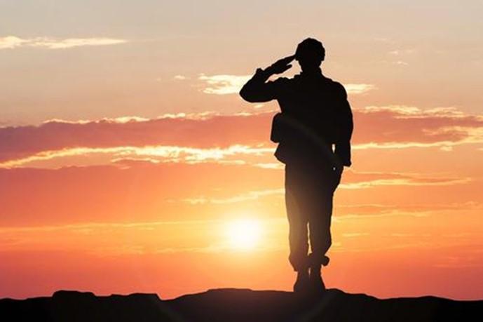 军人敬礼背景图片