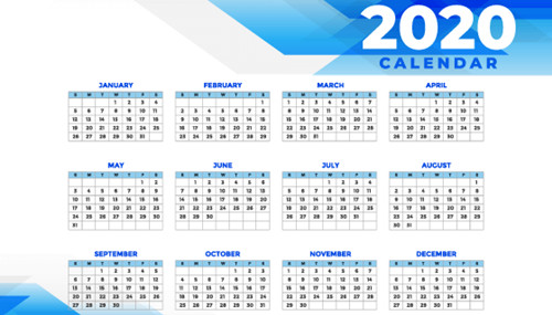 日历2020日历表