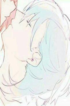 情侣接吻动漫图片