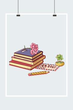 教师节康乃馨书本手抄报素材