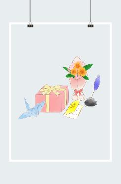 教师节康乃馨鲜花素材