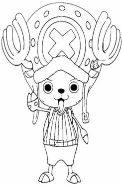 海贼王乔巴简笔画图片