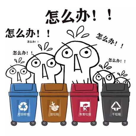 4大垃圾桶的分类图片
