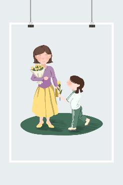 教师节女学生向女老师献花