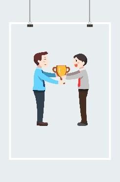 颁奖人物卡通插画图片