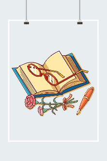 教师节礼物插画图片