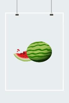 原创手绘西瓜插画