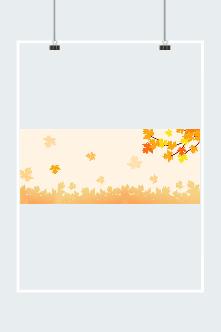 枫叶飘落插画背景