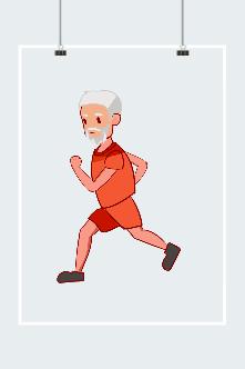 跑步健身人物图片